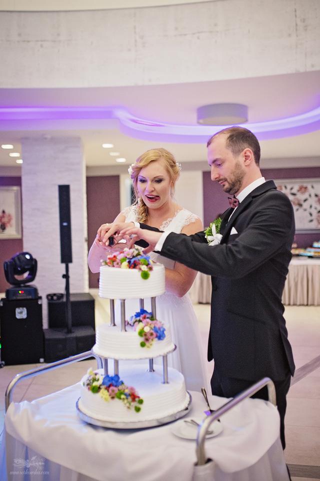 Fotograf ślubny Lublin Łęczna Stalowa Wola Sandomierz reportaż ślubny tort