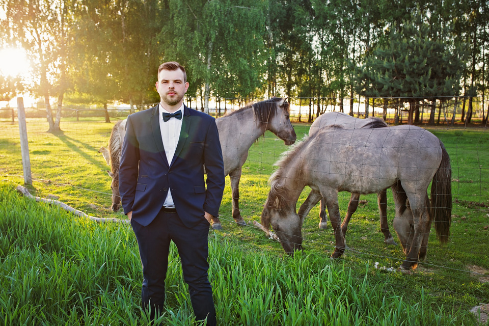 Fotograf ślubny Lublin Łęczna Stalowa Wola Sandomierz sesja plener ślubny natura zachód