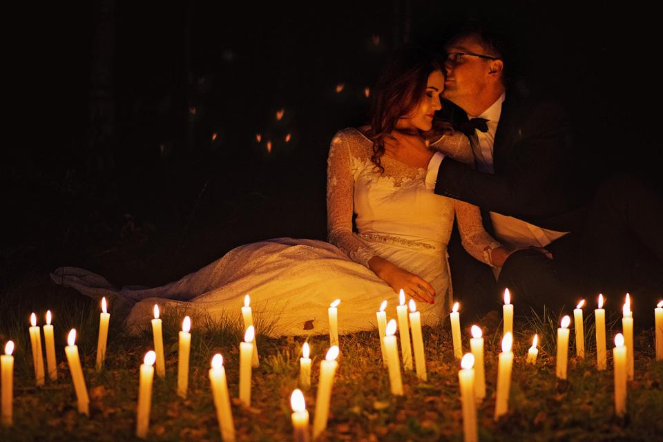 Sesja ślubna plener świece 2