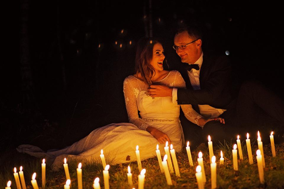 Sesja ślubna plener świece
