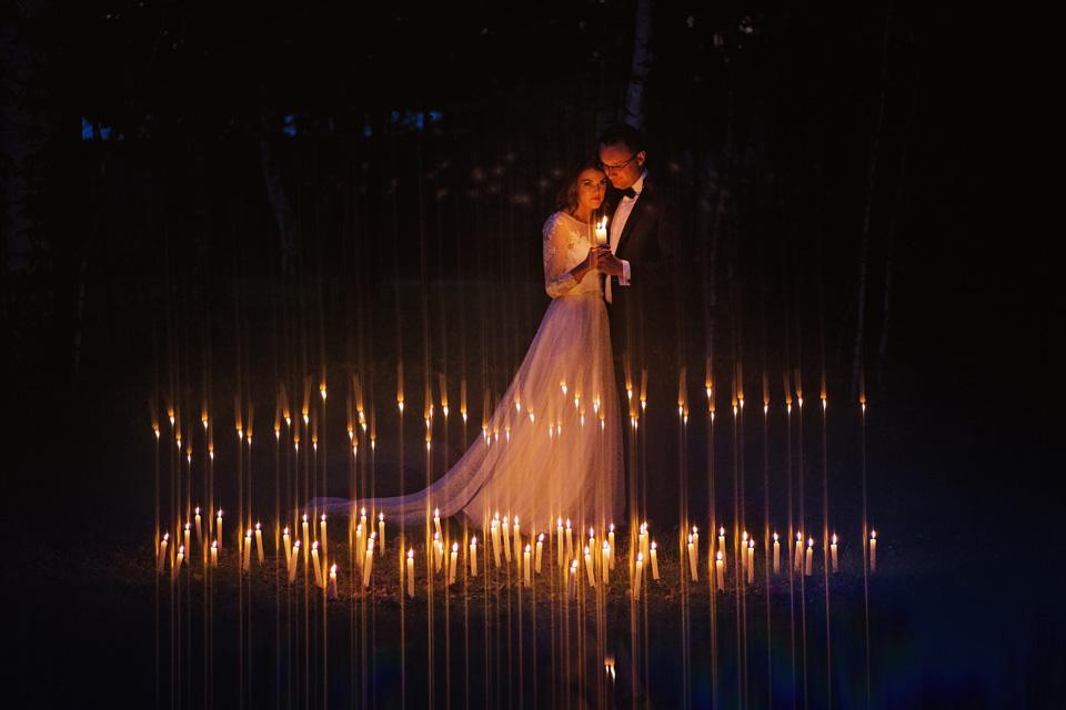 Sesja ślubna plener świece 12